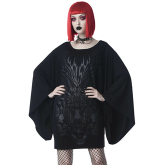 šaty dámské (tunika) KILLSTAR - Untamed Kimono - Black, KILLSTAR