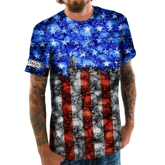 tričko pánské LETHAL THREAT - SKULL CAMO USA FLAG, LETHAL THREAT