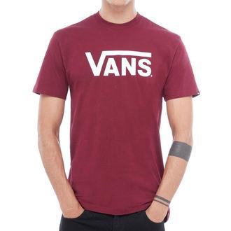 tričko pánské VANS - MN VANS CLASSIC - Burgundy/White, VANS