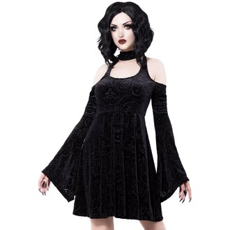 šaty dámské KILLSTAR - Vela - BLACK, KILLSTAR