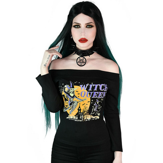 tričko dámské s dlouhým rukávem (top) KILLSTAR - Witch Queen Bardot - Black, KILLSTAR
