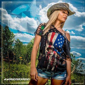 klobouk WORNSTAR - Hellrider Black & Natural Rocker Cowboy, WORNSTAR