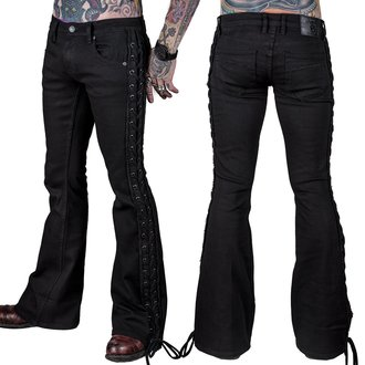 kalhoty pánské (jeans) WORNSTAR - Starchaser - Black Denim Flare Cut - Black, WORNSTAR
