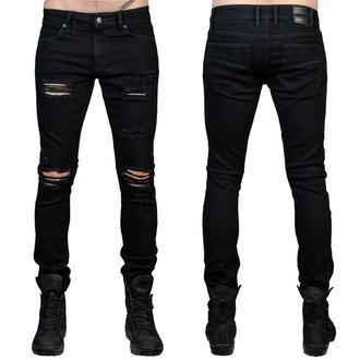 kalhoty pánské (jeans) WORNSTAR - Rampager Shredded - Black - WSP-RPKSH
