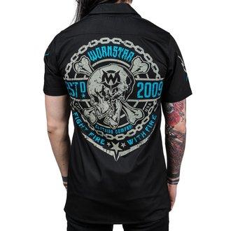 košile pánská WORNSTAR - MASTER Fight Fire - Black, WORNSTAR