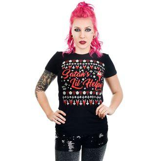 tričko dámské TOO FAST - SATAN'S LIL HELPER EVIL CHRISTMAS BABYDOLL, TOO FAST