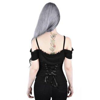 tričko dámské KILLSTAR - Ylva Bardot - BLACK, KILLSTAR