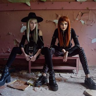 nadkolenka KILLSTAR - Zoey - BLACK, KILLSTAR