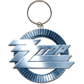 klíčenka - přívěšek ZZ Top (Circle Logo) - ROCK OFF, ROCK OFF, ZZ-Top