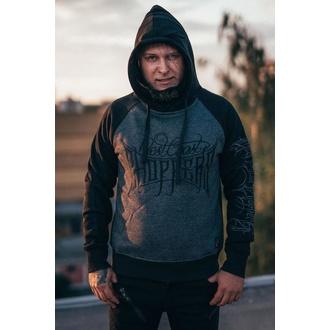 mikina pánská WEST COAST CHOPPERS - THE HOOLIGAN - Melange grey/black, West Coast Choppers