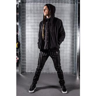 boty pánské VANS - Chukka Low - Black Leather/Dark Grey, VANS