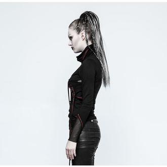 tričko dámské s dlouhým rukávem PUNK RAVE - Brute - black/red, PUNK RAVE