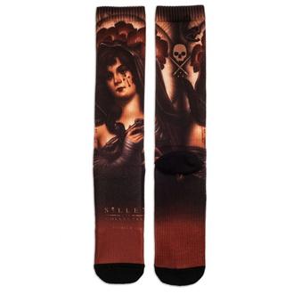 ponožky pánské SULLEN - ANDRES BLESA - BLACK/MAROON, SULLEN