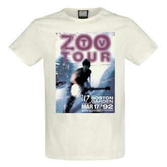 tričko pánské U2 - ZOO TV TOUR - VINTAGE WHITE - AMPLIFIED, AMPLIFIED, U2