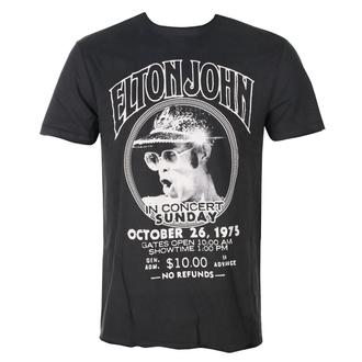 tričko pánské ELTON JOHN - LIVE IN CONCERT - CHARCOAL - AMPLIFIED, AMPLIFIED, Elton John
