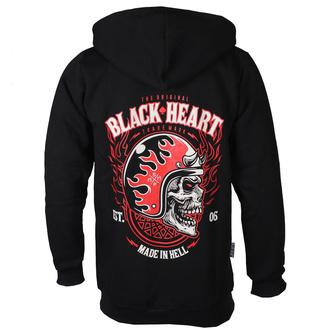 mikina pánská BLACK HEART - HATTER - BLACK, BLACK HEART