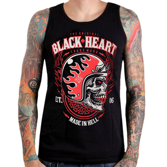 tílko pánské BLACK HEART - HATTER - BLACK, BLACK HEART