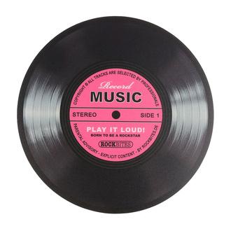 podložka pod myš Record Music - Pink - ROCKBITES - 101200