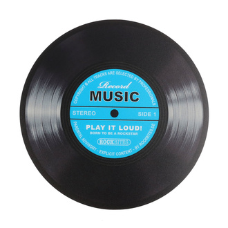 podložka pod myš Record Music - Blau - ROCKBITES, Rockbites