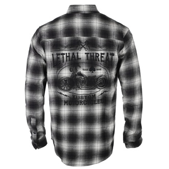 košile pánská LETHAL THREAT - MOTOR GEAR KUSTOM MOTORCYCLES - GREY/BLACK, LETHAL THREAT