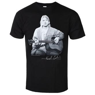 tričko pánské Kurt Cobain - Guitar Live Photo - ROCK OFF, ROCK OFF, Nirvana