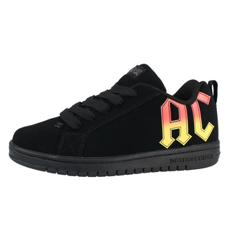 boty DC - AC/DC - HIGHWAY TO HELL - BLACK/BLACK/ORANGE, DC, AC-DC