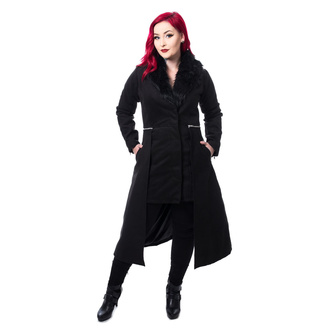 kabát dámský POIZEN INDUSTRIES - ADERYN COAT - BLACK, POIZEN INDUSTRIES