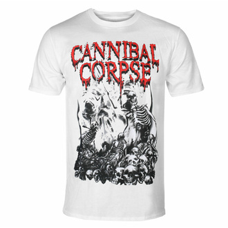 tričko pánské CANNIBAL CORPSE - PILE OF SKULLS - WHITE, PLASTIC HEAD, Cannibal Corpse