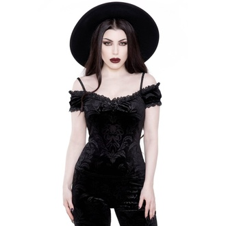 tričko dámské (top) KILLSTAR - Agatha Bardot - BLACK - KSRA001758