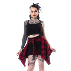 šaty dámské Chemical black - ALEXANDRA - BLACK/RED CHECK, CHEMICAL BLACK