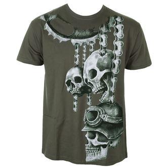 tričko pánské ALISTAR - Motor Skulls - Khaki, ALISTAR