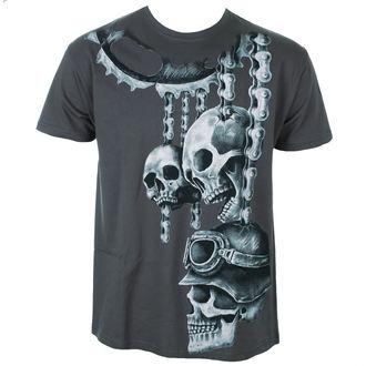 tričko pánské ALISTAR - Motor Skulls - Grey, ALISTAR