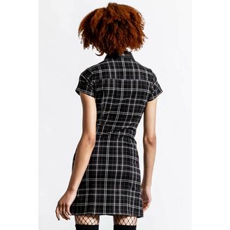 šaty dámské KILLSTAR - All Attitude Cut-Out - ASH TARTAN, KILLSTAR
