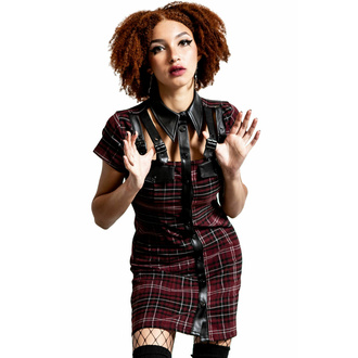 šaty dámské KILLSTAR - All Attitude Cut-Out - BLOOD TARTAN, KILLSTAR