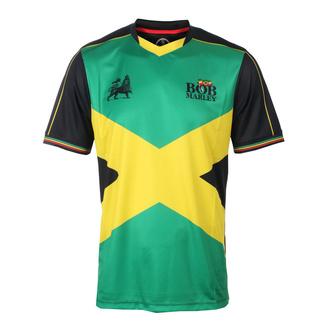 tričko pánské (dres) BOB MARLEY - IRON LION - GREEN/BLACK - AMPLIFIED, AMPLIFIED, Bob Marley