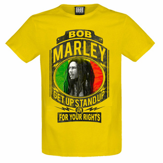 tričko pánské BOB MARLEY - FIGHT FOR YOUR RIGHTS - YELLOW RAVEN - AMPLIFIED, AMPLIFIED, Bob Marley