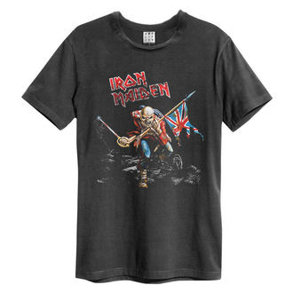 tričko pánské IRON MAIDEN - 80S TOUR - CHARCOAL - AMPLIFIED, AMPLIFIED, Iron Maiden