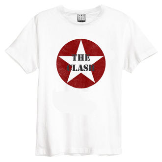 tričko pánské The Clash - Star Logo - White - AMPLIFIED