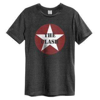 tričko pánské The Clash - Star Logo - Charcoal - AMPLIFIED - ZAV210TCR