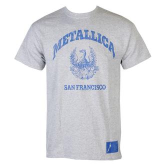 tričko pánské Metallica - College Crest - Grey, NNM, Metallica