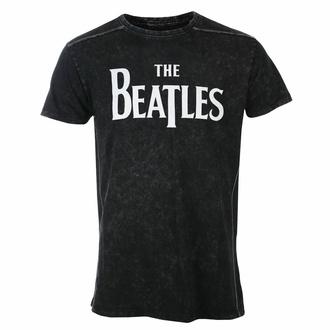 tričko pánské Beatles - Drop T Logo - Snow Wash - ROCK OFF, ROCK OFF, Beatles