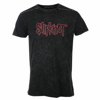 tričko pánské Slipknot - Logo - Snow Wash - ROCK OFF, ROCK OFF, Slipknot