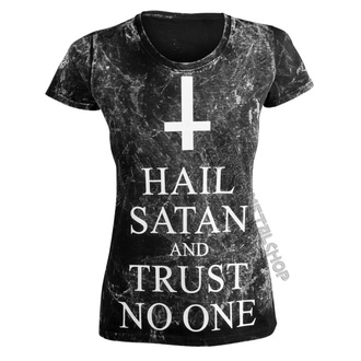 tričko dámské AMENOMEN - HAIL SATAN AND TRUST NO ONE, AMENOMEN