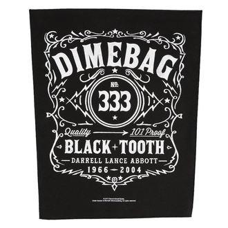 nášivka velká DIMEBAG DARRELL - BLACK TOOTH - RAZAMATAZ, RAZAMATAZ, Dimebag Darrell
