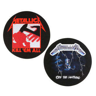 podložka na gramofon (set 2ks) METALLICA - KILL EM ALL - RIDE THE LIGHTENING - RAZAMATAZ, RAZAMATAZ, Metallica