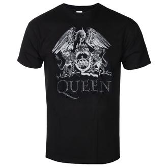tričko pánské Queen - Crest Logo - ROCK OFF - QUTS19MB