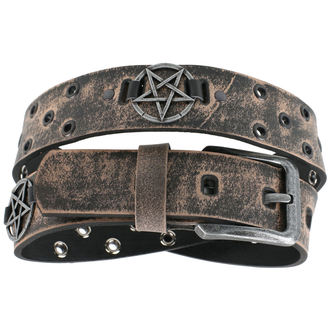 pásek Pentagram - brown, JM LEATHER