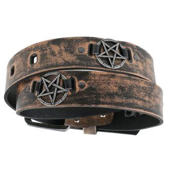 pásek Pentagram - brown, JM LEATHER