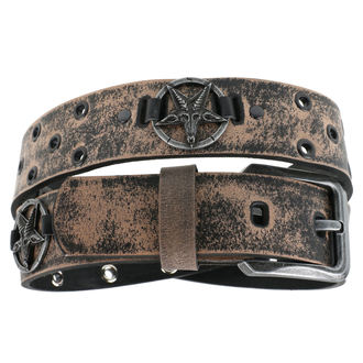 pásek Baphomet - brown, JM LEATHER
