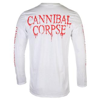 tričko pánské s dlouhým rukávem CANNIBAL CORPSE - PILE OF SKULLS 2018 - White - PLASTIC HEAD, PLASTIC HEAD, Cannibal Corpse